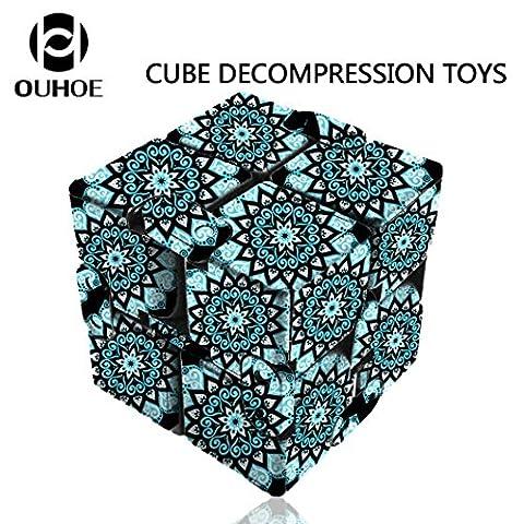 Nouveau. enfants jouet, Yanhoo infinity Cube pour soulager le stress & anti anxiété Stress Funny jouet Cadeau, Enfant, bleu