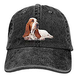 Basset Hound Dog Denim Baseball Caps Hat Adjustable Cotton Sport Strap Cap for Men Women