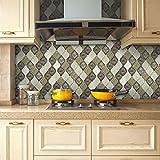 JY ART AYZ Fliesenaufkleber Dekorative Wandgestaltung mit Fliesenaufklebern für Küche und Bad, Deko-Fliesenfolie für Küche u. CZ028, 2, 20cm*5m