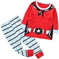 KaloryWee Baby Boy Girl Christmas Dress Up Costume, 4PCS Toddler Infant Baby Christmas Santa Cosplay Tops + Pants + Hat + Socks Costume Outfit Set