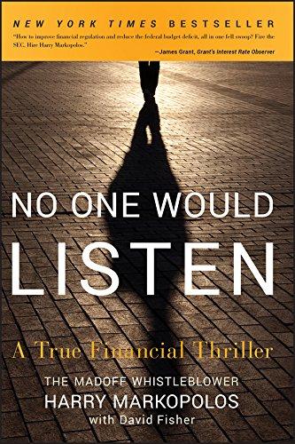 No One Would Listen: A True Financial Thriller por Harry Markopolos