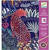 Djeco DJ09728 , 4 cartes à gratter Nature Luxuriante - Multicolore