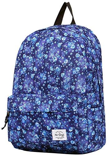 SIMPLAY Klassischer Schulrucksack Büchertasche | 44x30x12.5cm | Trendiges Muster | Blumen (Junior Handtaschen Army Bag)