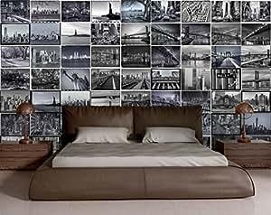 Collage créatif New York Big Apple Design murale - 64 pièces
