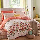Puro algodón solo duvet cover/Otoño e invierno algodón edredón individual/ cómodo y respirable edredón-P 160x210cm(63x83inch)
