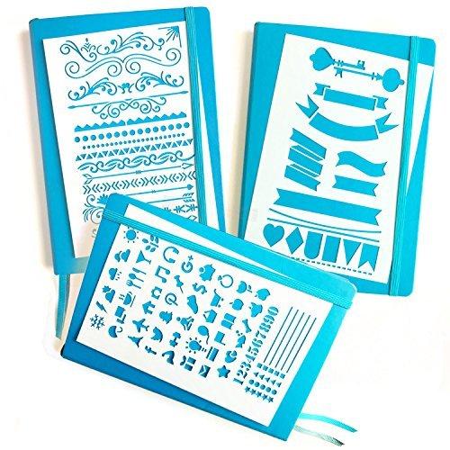 Bullet Tagebuch Schablone Kit-Banner, Trennwänden, & Symbole | passt Leuchtturm & Moleskine A5Notebooks | Best verwendet mit huhuhero Fineliner & Sakura Micron Stifte Starter Set -