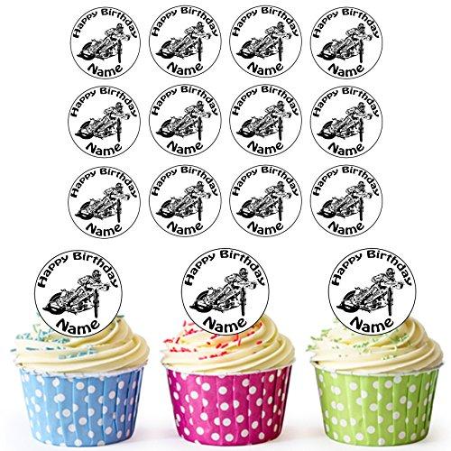 Speedway Rider 2-24personalizzata torta/torta di compleanno decorazioni-Easy pretagliato cerch
