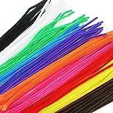 Ewparts 300 pezzi di detergenti per tubi ciniglia steli 6 mm x 12 pollici a mano Furry Wire Kit per le arti dei bambini(#2)