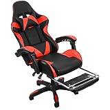 Nidouillet Chaise de Bureau Chaise Gamer Chaise Gaming Fauteuil Gamer Fauteuil de Bure de travailavec a têtière AB065