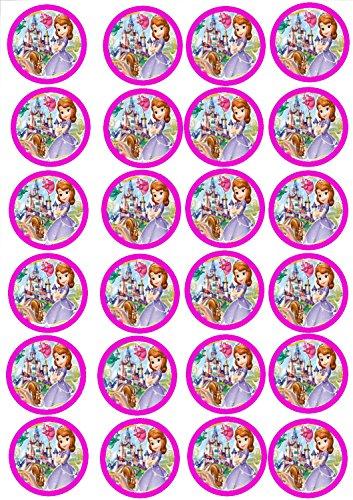 24 Muffin & Cupcake Aufleger Fondant Sofia die Erste C3