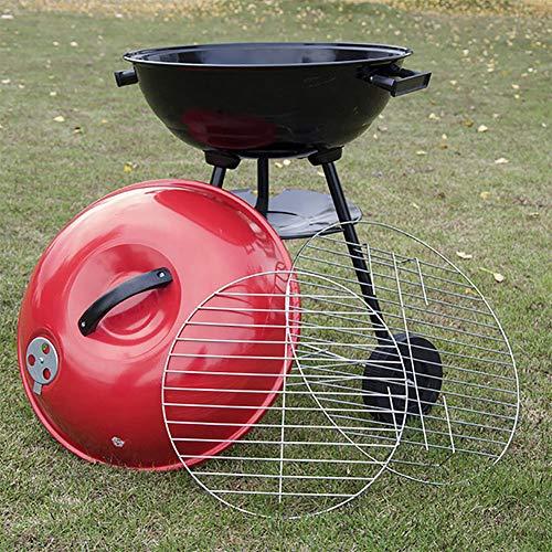 YMJ Tragbarer Holzkohlegrill BBQ Grill Wasserkocher Holzkohlegrill und Raucher Tailgating Kleine Grillgrills im Freien -