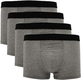 Pau1Hami1ton Men's Cotton Boxer Shorts 2/3/4 Pack Microfiber Trunks Stretch Briefs Low Rise Underwear Waistband Multipack B-07