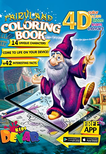 Devar Kids Augmented Reality libro de colorear Fairy Land Coloring Book
