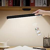Lampada da Tavolo Senza Fili,Hapfish Lampada da Scrivania a LED Magnetica con Telecomando, Luce Notturna Ricaricabile…