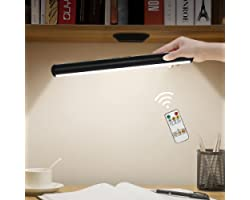 Lampada da Tavolo Senza Fili,Hapfish Lampada da Scrivania a LED Magnetica con Telecomando, Luce Notturna Ricaricabile USB, Lu