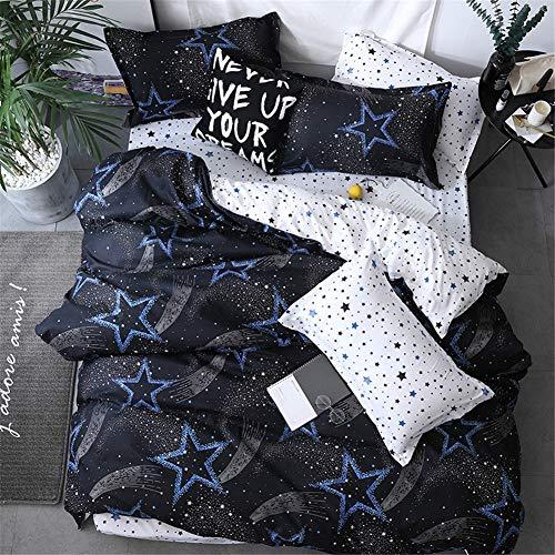 Morbuy Bettwäsche Bettbezug Set, 3 Teilig Bettgarnitur Bettwäsche – Set Gemütlich 100% Mikrofaser mit Reißverschluss 1 Bettbezug + 2 Kissenbezug