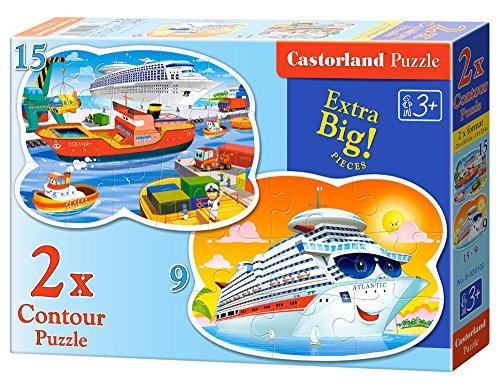 Castorland B-020102 - Puzzle Contour - Seeabenteuer 2 Stück