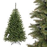 FAIRYTREES Weihnachtsbaum künstlich FICHTE NATUR, grüner Stamm, Material PVC, inkl. Metallständer, 180cm
