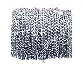 10m 4.5mm larghezza, non sbiadisce aluminum Curb catene Twisted metal cavo catena argento creazione di gioielli catena per fare fai da te bracciale collana