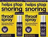 2x Helps Stop Snoring Throat Spray 9ml
