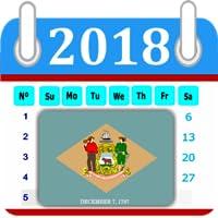 Delaware Calendar 2018 Holiday