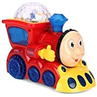 JANKI ENTERPRISE ™ Kids Bump and Go Musical Engine Train with 4D Light and Sound Toy for Kids/Boys/Children