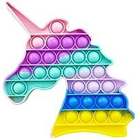 AURSTORE Jouets Anti-Stress - Fidget Toy - Push It - Pop Bubble - Jouets Sensoriels à Presser en Silicone pour la…
