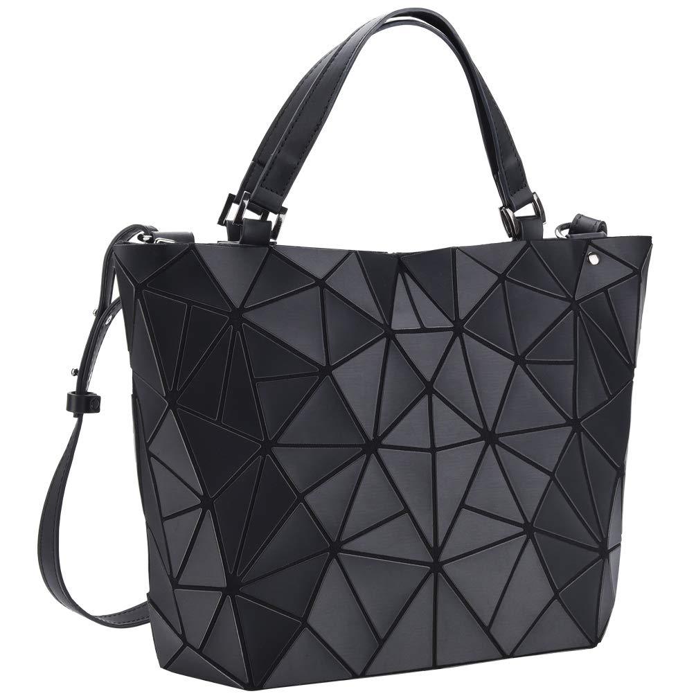 61GkbwYc2 L - VBIGER Bolso Geométrico Mujer Bolso de Hombro Mujer Estilo Shopper Bolso de Mano Nergo (Negro)