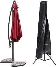Essort Schutzbezug für Sonnenschirm Wasserdicht, Schwarze Schutzhülle für Sonnenschirm Sonnenschirme geeignet für Garten, Abdeckung Schirm des Patio Outdoor