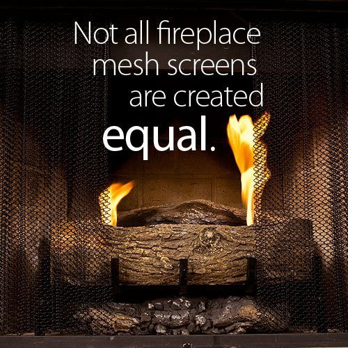 Fireplace Mesh Screen Curtain. 21\