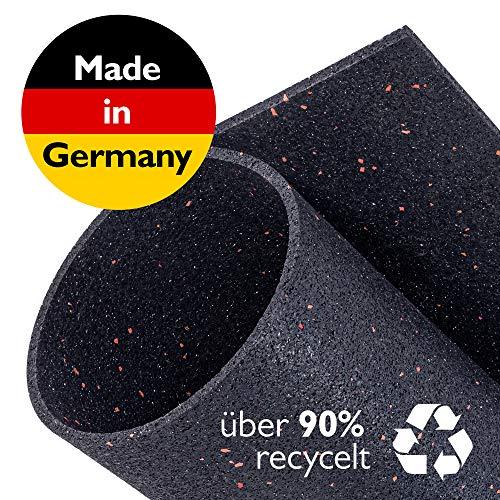 Zuschneidbare Antivibrationsmatte für Waschmaschinen, Trockner u.v.m. | Größe 60cmx60cmx6mm | Auch als Antirutschmatte, Waschmaschinenunterlage & Schalldämmung geeignet | MADE IN GERMANY