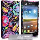 Yousave Accessories lg-fa01-z095Schutzhülle aus Silikon Gel + Schutzfolie für LG Optimus L7P700Qualle