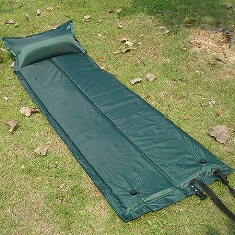 Acampar al aire libre inflable empalmada cojín almohada estera de la cama colchón.