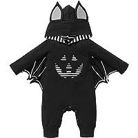 UPXIANG Kit Halloween Costume for Neonato, Bambino Pagliaccetto con Cappuccio Romper Pipistrello Manica Body Tuta Abiti…