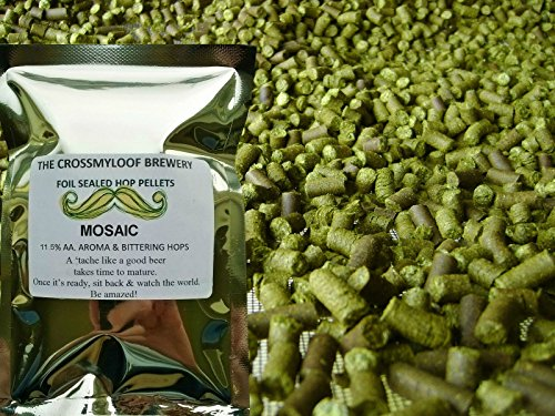100g of Mosaic Hop Pellets. 11.5 % AA - 2016. Cold Stored CO2 Flushed for Freshness