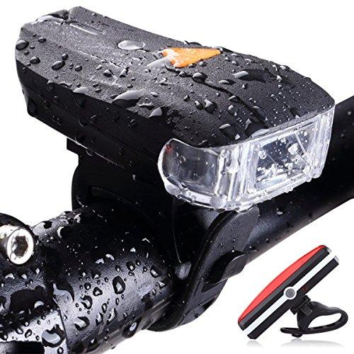 Rad Entfernen (Smart Fahrrad Licht Set USB aufladbare Fahrrad Licht Set Super Bright Warmweiß led lampen LED Fahrrad Rücklicht, wasserdicht und einfach zu installieren und Entfernen für Kinder Herren Frauen Rad)