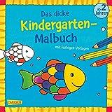 Kleinanzeigen: Das dicke Kindergarten-Malbuch, Bd. 2: Mit farbigen Vorlagen