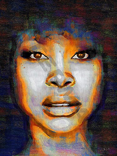 ERYKAH BADU SOUL FUNK R&B ART PRINT POSTER OIL PAINTING LFF0043 (Poster Erykah Badu)