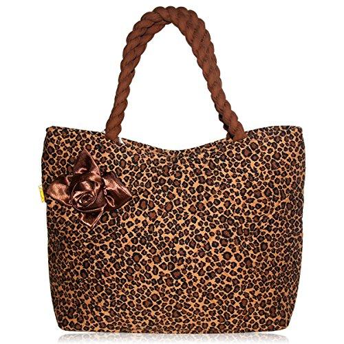 Pataya PTB079 Frauen-Einkaufstasche Multi Use Handtasche Stilvolle Schulter-Beutel Mit Raffinesse Seide Rosa (Textur Kordelzug)