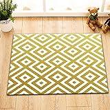 Geometrie Patttern Gold WeißBadematte Dusche Teppich Fußmatte Badezimmerzubehör 60 Länge x 40 Breite cm