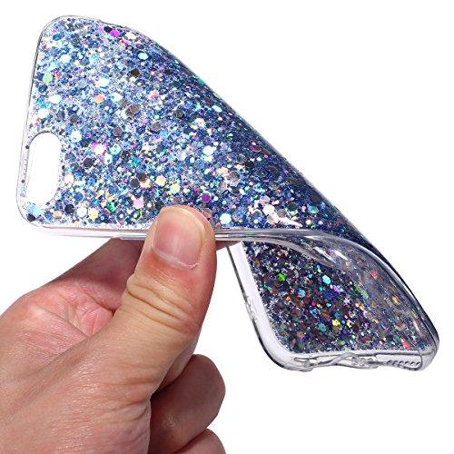 iPhone 6S Plus Hülle,iPhone 6 Plus Hülle,iPhone 6S Plus 360 Grad Hülle,SainCat TPU Silikon Hülle für iPhone 6 Plus/6S Plus [Thin Fit 360] Komplettschutz Front + Back Rundum Double Beidseitiger Schutzh Sparkling Blue