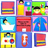 #5: You All Day - 6 Page Quiet Book / Busy Book / Interactive Cloth Book/ Toddler Activity Book/ Developmental Toy