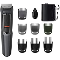 Philips MG3747/15, 9-in-1, Face, Hair and Body - Multi Grooming Kit. Self Sharpening Stainless Steel Blades, No Oil…
