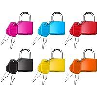 nuoshen 6 Stücke Kofferschloss mit Schlüssel, Mini Vorhängeschloss mit Schlüssel Gepäckschloss Sicherheitsschloss mit…