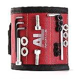 Magnetisches Armband mit 10 starken Magneten, die leicht Schrauben, Nägel, Bohrer und andere kleine Metallwerkzeuge hal