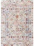 Benuta Teppich Visconti Multicolor/Blau 160x230 cm - Vintage Teppich im Used-Look