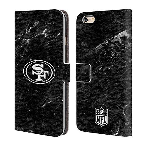 Ufficiale NFL LED 2017/18 San Francisco 49Ers Cover a portafoglio in pelle per Apple iPhone 7 Plus Marmo