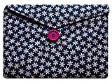 Miss Pretty London Navy Blue Daisy Print Samsung Galaxy Tab A 10'1 Bag for Samsung Galaxy Tab A 10'1