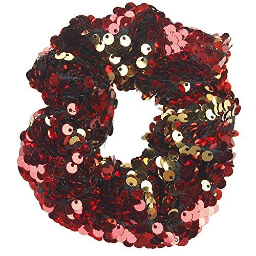 Likecrazy Damen Haarbänder Stirnband elastische Pailletten Ringe Haargummibänder GläNzend Vintage Kopfbedeckungen Stretchy Elegant Haarschmuck Haarkranz Haarbänder ()