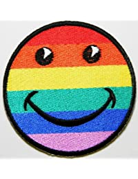 Smiley Happy Face patches Embroidered Iron on Patch MG06